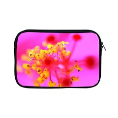 Bright Pink Hibiscus 2 Apple Ipad Mini Zipper Cases by timelessartoncanvas