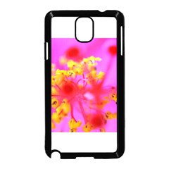 Bright Pink Hibiscus 2 Samsung Galaxy Note 3 Neo Hardshell Case (black) by timelessartoncanvas