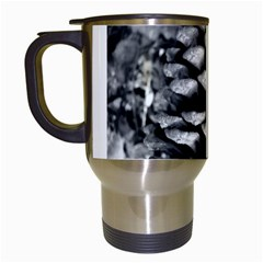 Pinecone Spiral Travel Mugs (white) by timelessartoncanvas