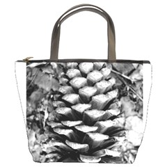 Pinecone Spiral Bucket Bags by timelessartoncanvas