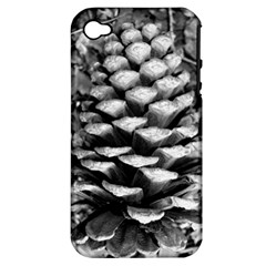 Pinecone Spiral Apple Iphone 4/4s Hardshell Case (pc+silicone) by timelessartoncanvas