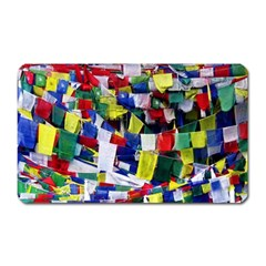 Tibetan Buddhist Prayer Flags Magnet (rectangular) by CrypticFragmentsColors