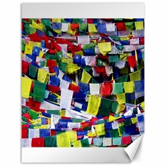 Tibetan Buddhist Prayer Flags Canvas 12  X 16   by CrypticFragmentsColors