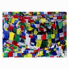 Tibetan Buddhist Prayer Flags Large Glasses Cloth (2 Side) by CrypticFragmentsColors