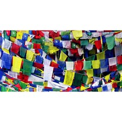 Tibetan Buddhist Prayer Flags You Are Invited 3d Greeting Card (8x4)  by CrypticFragmentsColors