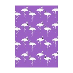 Flamingo White On Lavender Pattern Shower Curtain 48  X 72  (small)  by CrypticFragmentsColors