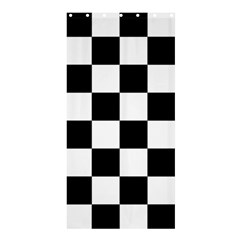 Checkered Flag Race Winner Mosaic Tile Pattern Shower Curtain 36  X 72  (stall)  by CrypticFragmentsColors