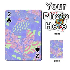 Girls Bright Pastel Abstract Blue Pink Green Playing Cards 54 Designs by CrypticFragmentsColors