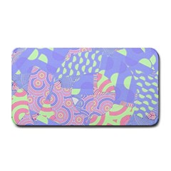 Girls Bright Pastel Abstract Blue Pink Green Medium Bar Mat by CrypticFragmentsColors