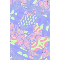 Girls Bright Pastel Abstract Blue Pink Green 5 5  X 8 5  Notebook by CrypticFragmentsColors