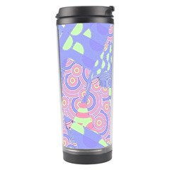Girls Bright Pastel Abstract Blue Pink Green Travel Tumbler by CrypticFragmentsColors