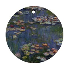 Claude Monet   Water Lilies Ornament (round)  by ArtMuseum
