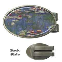 Claude Monet   Water Lilies Money Clips (oval)  by ArtMuseum