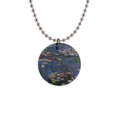 Claude Monet   Water Lilies Button Necklaces by ArtMuseum