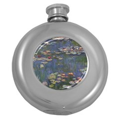 Claude Monet   Water Lilies Round Hip Flask (5 Oz) by ArtMuseum