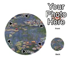 Claude Monet   Water Lilies Playing Cards 54 (round)  by ArtMuseum