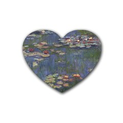 Claude Monet   Water Lilies Heart Coaster (4 Pack)  by ArtMuseum
