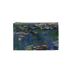 Claude Monet   Water Lilies Cosmetic Bag (small)  by ArtMuseum