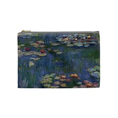 Claude Monet   Water Lilies Cosmetic Bag (medium)  by ArtMuseum