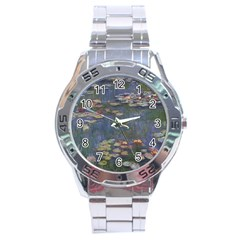 Claude Monet   Water Lilies Stainless Steel Men s Watch by ArtMuseum