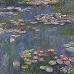 Claude Monet   Water Lilies PARTY 3D Greeting Card (8x4)  Inside