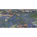 Claude Monet   Water Lilies PARTY 3D Greeting Card (8x4)  Back