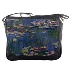 Claude Monet   Water Lilies Messenger Bags by ArtMuseum