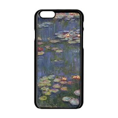 Claude Monet   Water Lilies Apple Iphone 6 Black Enamel Case by ArtMuseum