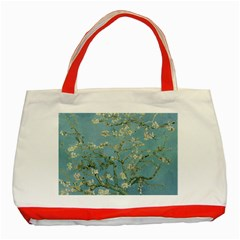 Almond Blossom Tree Classic Tote Bag (red)  by ArtMuseum