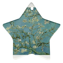 Almond Blossom Tree Star Ornament (two Sides)  by ArtMuseum