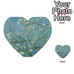 Almond Blossom Tree Multi Purpose Cards (heart)  by ArtMuseum