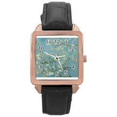 Almond Blossom Tree Rose Gold Watches by ArtMuseum