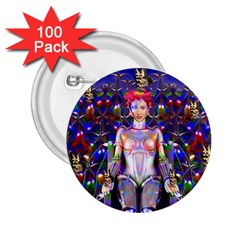 Robot Butterfly 2 25  Buttons (100 Pack)  by icarusismartdesigns