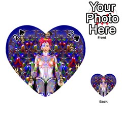Robot Butterfly Playing Cards 54 (heart)  by icarusismartdesigns