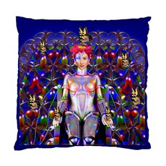 Robot Butterfly Standard Cushion Case (one Side)  by icarusismartdesigns
