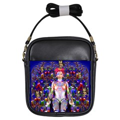 Robot Butterfly Girls Sling Bags by icarusismartdesigns