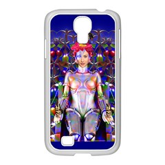 Robot Butterfly Samsung Galaxy S4 I9500/ I9505 Case (white) by icarusismartdesigns