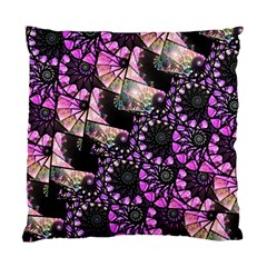 Hippy Fractal Spiral Stacks Standard Cushion Case (one Side)  by KirstenStar