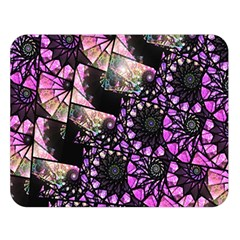 Hippy Fractal Spiral Stacks Double Sided Flano Blanket (large)  by KirstenStar