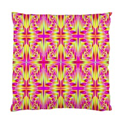 Pink And Yellow Rave Pattern Standard Cushion Case (one Side)  by KirstenStar