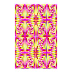 Pink And Yellow Rave Pattern Shower Curtain 48  X 72  (small)  by KirstenStar