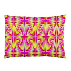 Pink And Yellow Rave Pattern Pillow Cases (two Sides) by KirstenStar