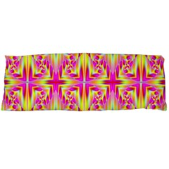 Pink And Yellow Rave Pattern Body Pillow Cases Dakimakura (two Sides)  by KirstenStar
