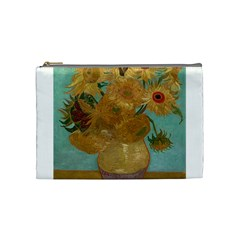 Vincent Willem Van Gogh, Dutch   Sunflowers   Google Art Project Cosmetic Bag (medium)  by ArtMuseum