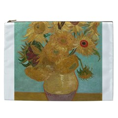 Vincent Willem Van Gogh, Dutch   Sunflowers   Google Art Project Cosmetic Bag (xxl)  by ArtMuseum