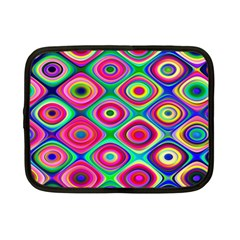 Psychedelic Checker Board Netbook Case (small)  by KirstenStar