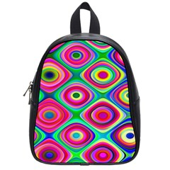 Psychedelic Checker Board School Bags (small)  by KirstenStar