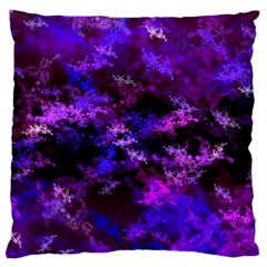 Purple Skulls Goth Storm Large Cushion Cases (two Sides)  by KirstenStar