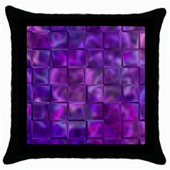 Purple Square Tiles Design Throw Pillow Cases (black) by KirstenStar