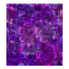 Purple Square Tiles Design Shower Curtain 66  X 72  (large)  by KirstenStar